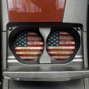 Freedom Isn't Free Car Coaster Set